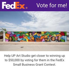 Help UP Art Studio get closer to winning up to $50,000 by voting for them.